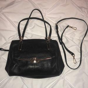 Coach frame handbag with crossbody strap